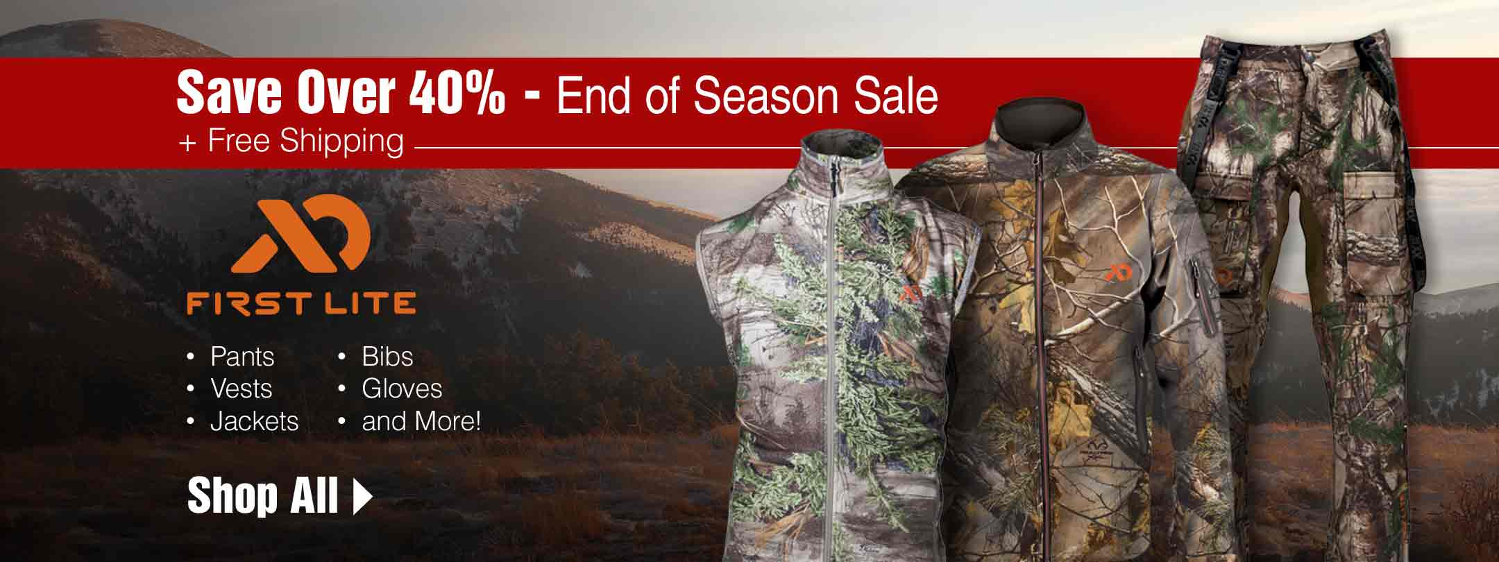 Save Over 40% on First Lite End of Season Sale