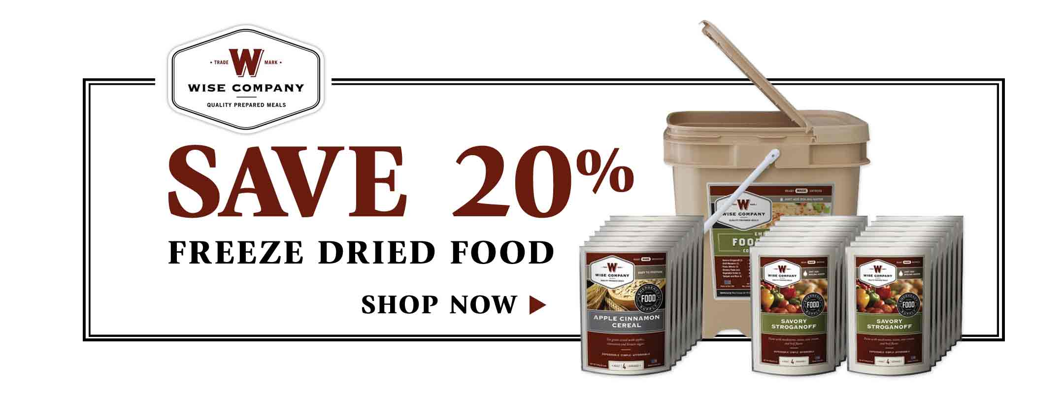 Save 20% on Wise Food