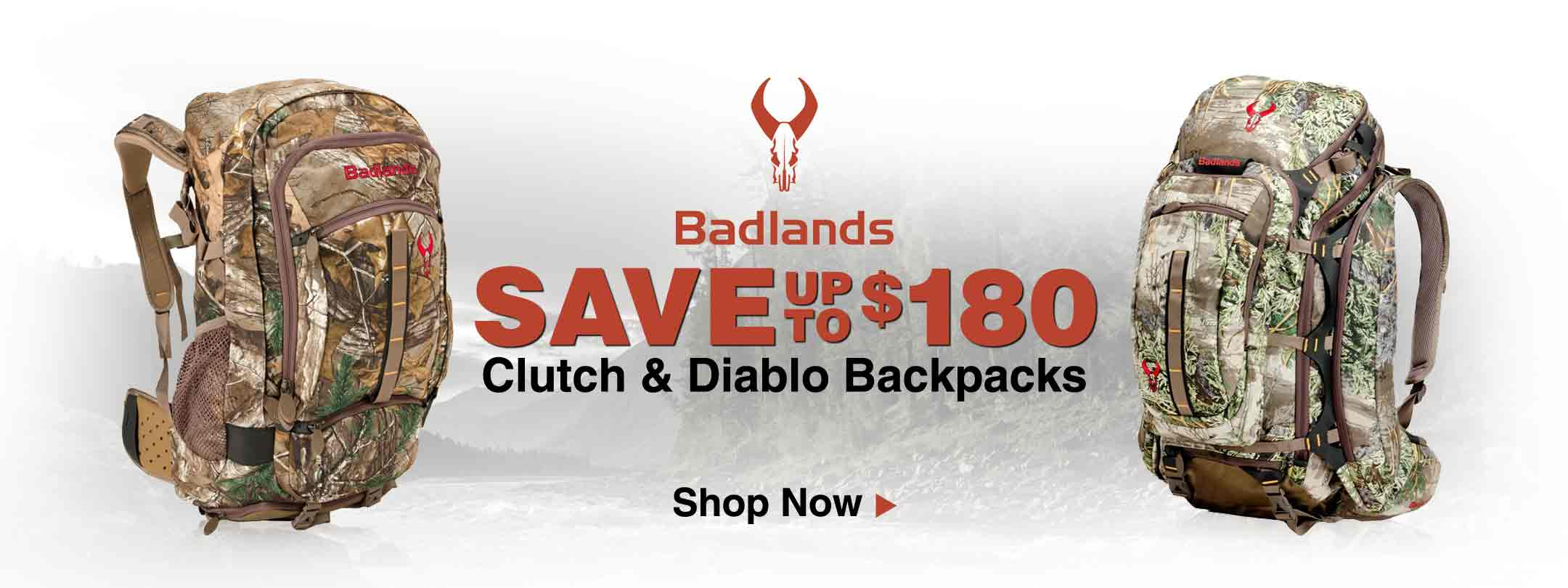 Badlands Clutch & Diablo Backpacks
