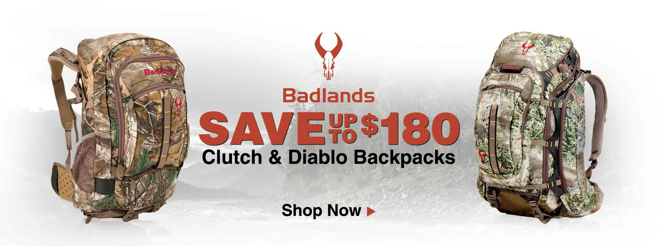 Badlands Clutch & Diablo Backpacks