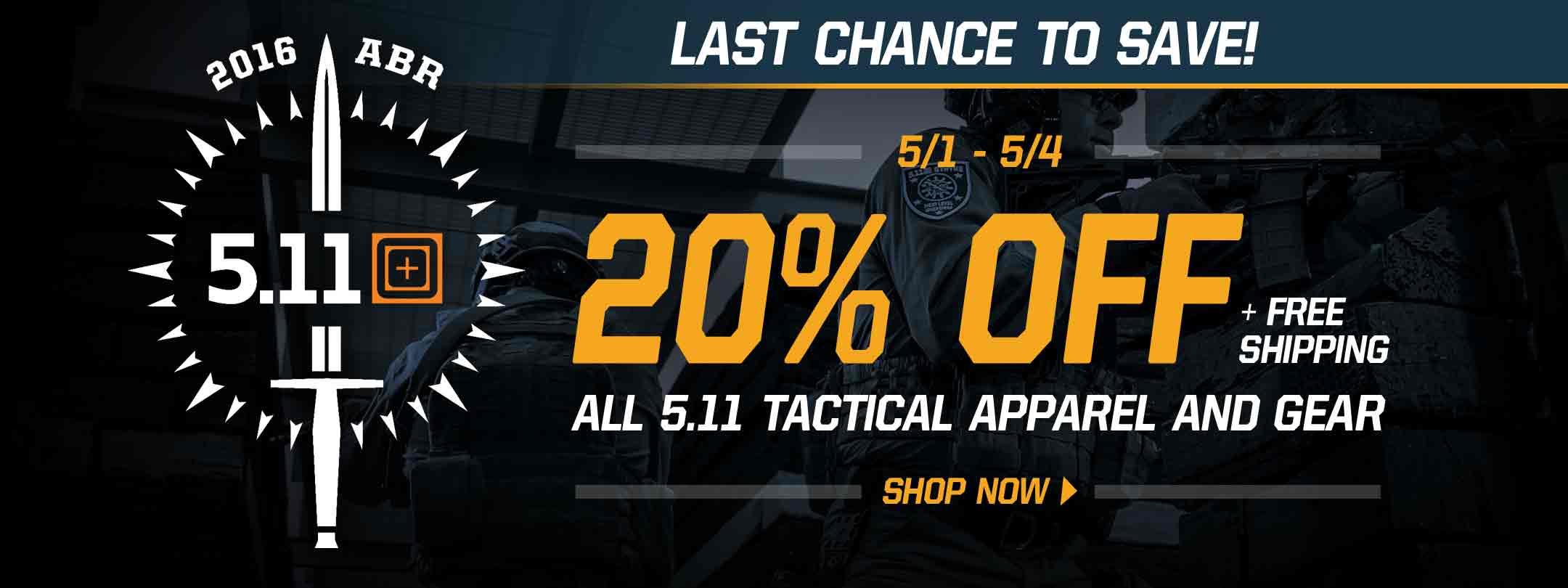 20% Off 5.11 Tactical