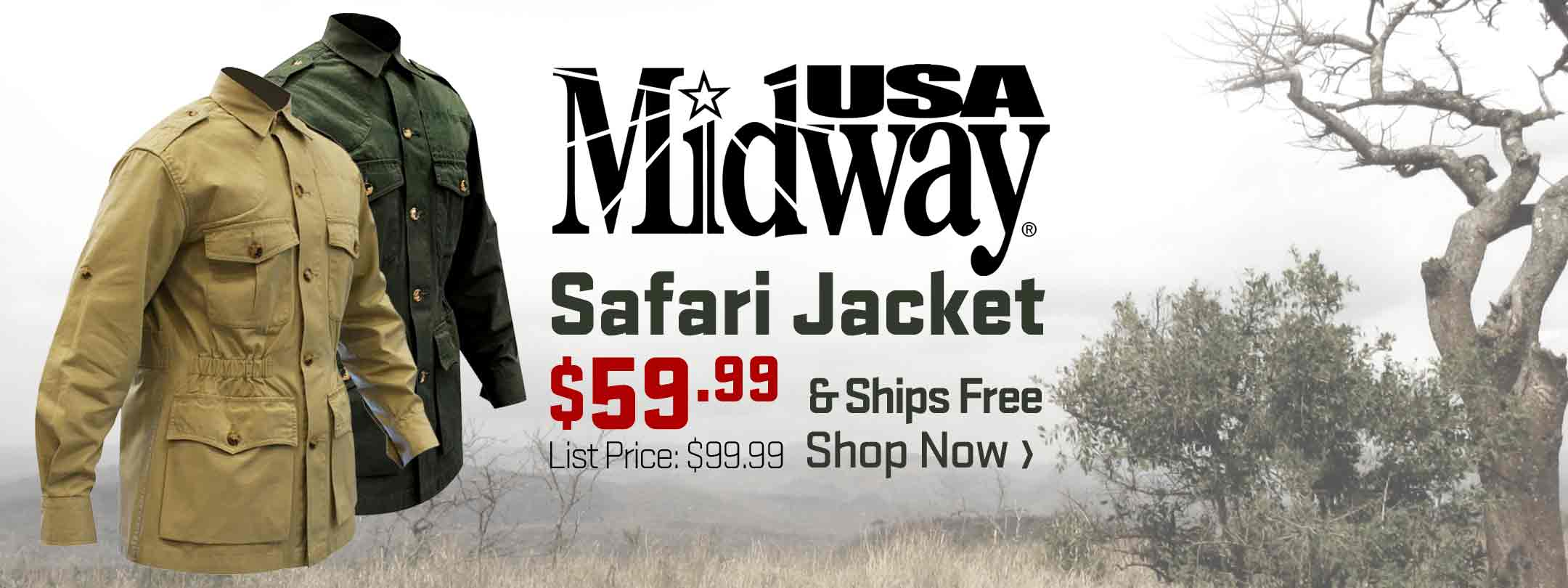 Now Available - MidwayUSA Safari Jacket