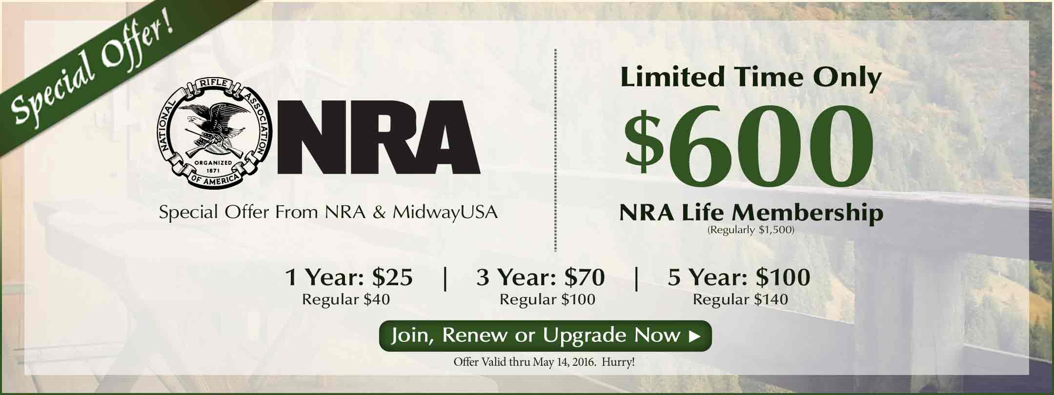 Save on Your NRA Life Membership