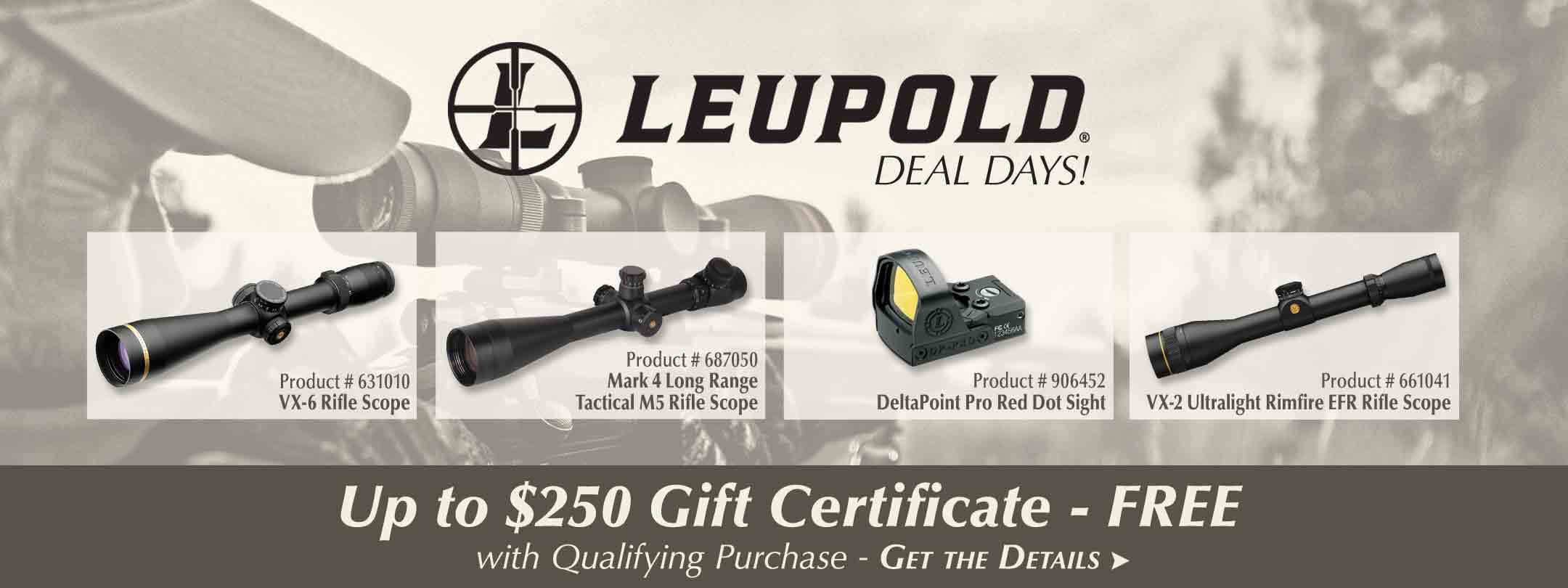 Leupold Deal Days: $75 - $250 Gift Certificate