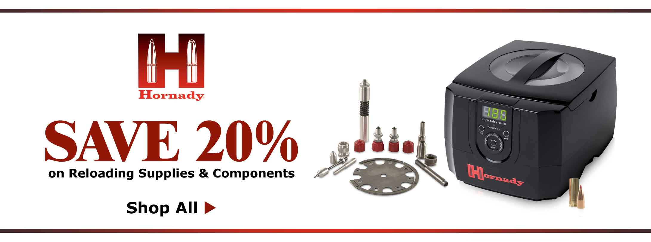 Save 20% on Hornady Reloading