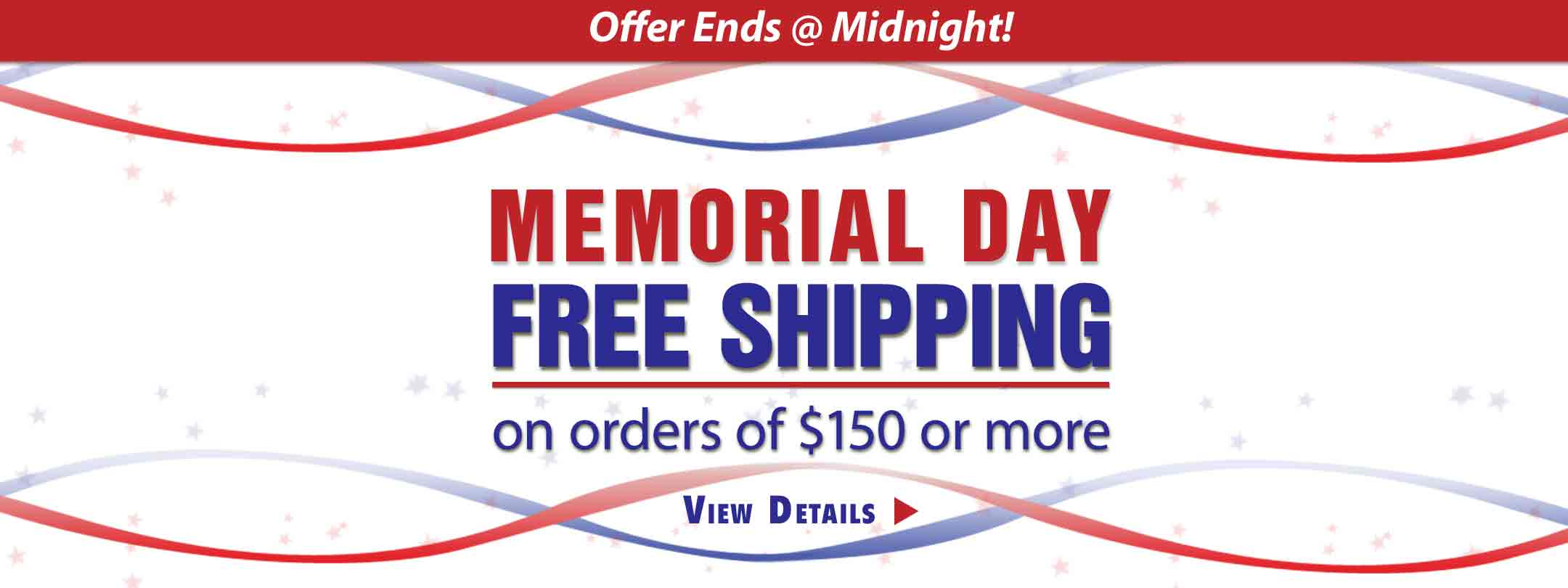 Memorial Day Free Shipping with Promo Code