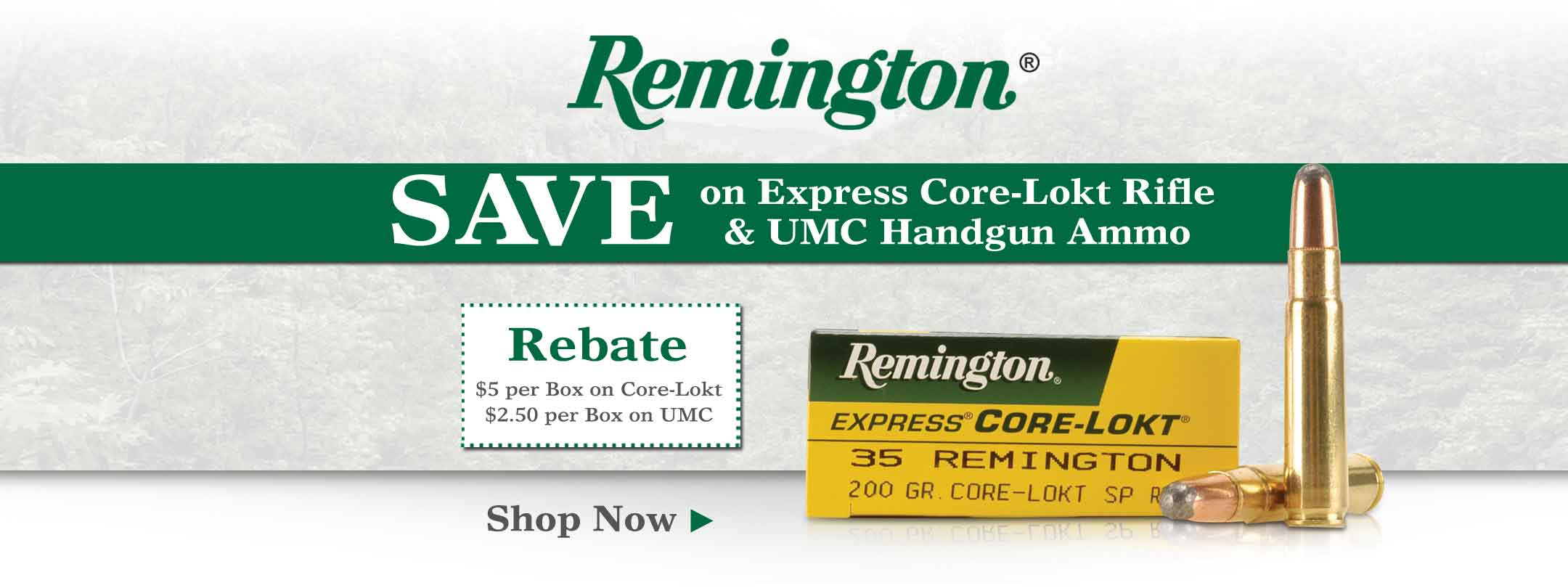 Save on Remington Ammo + Rebate