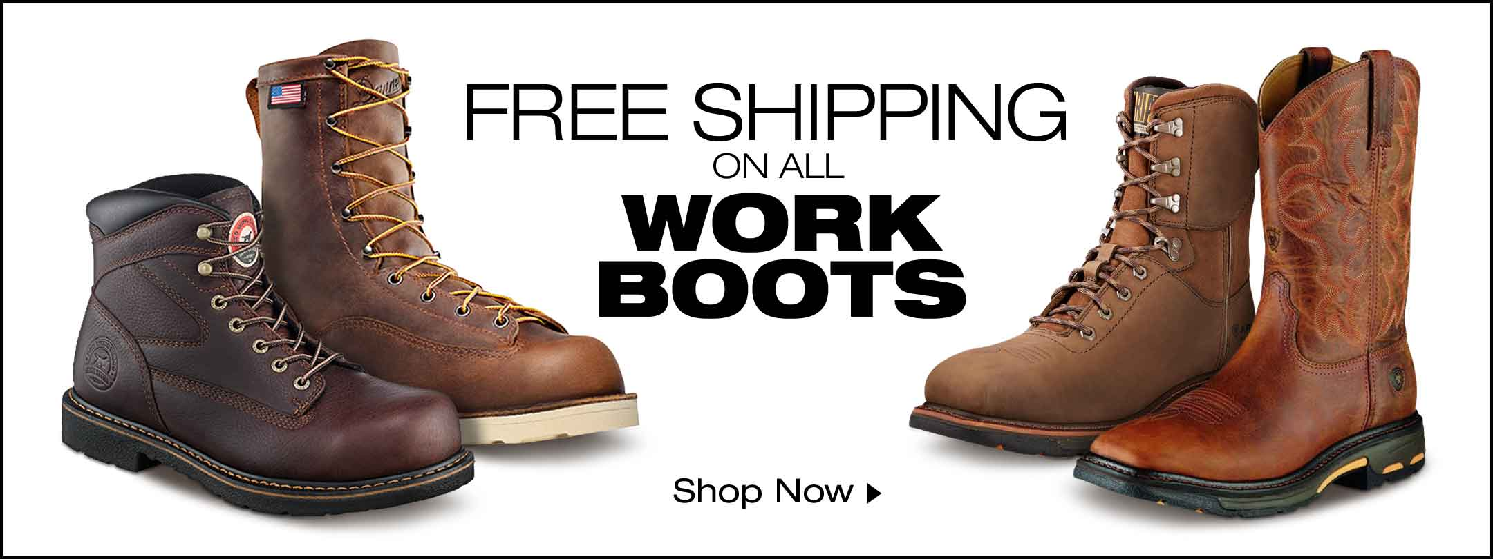 Free Shipping On All Work Boots