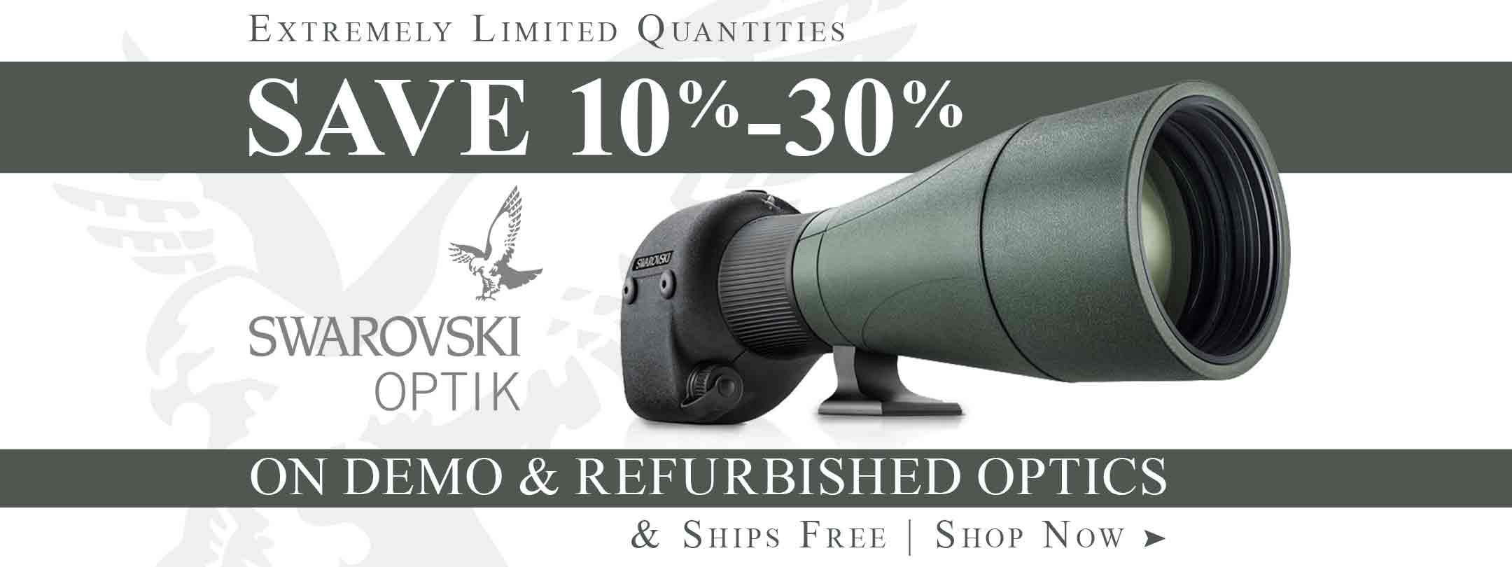 Save on Swarovski Demo & Refurbished Optics