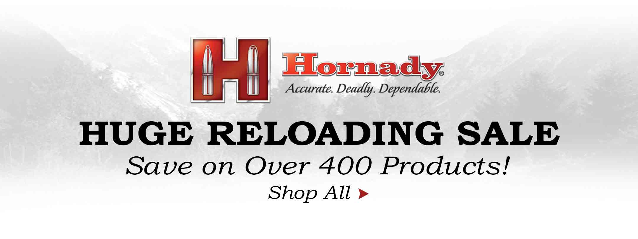 Over 400 Hornady Reloading Products on Sale!