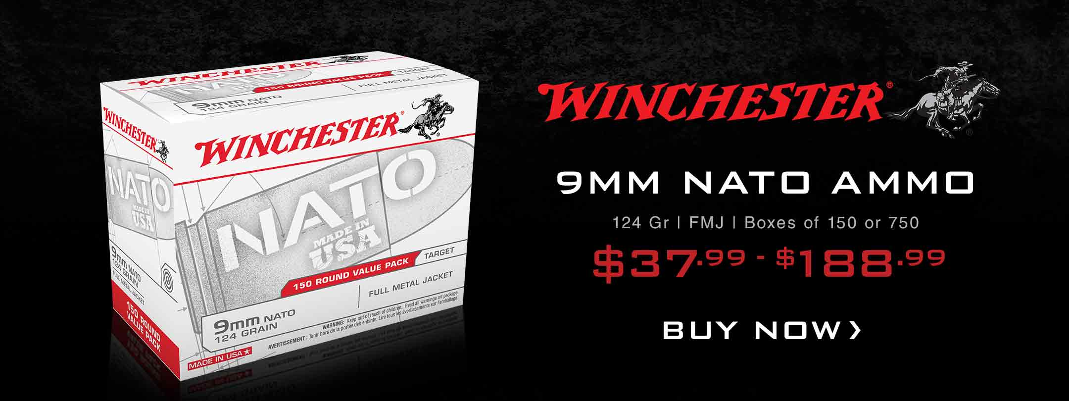 Winchester 9mm NATO Ammunition