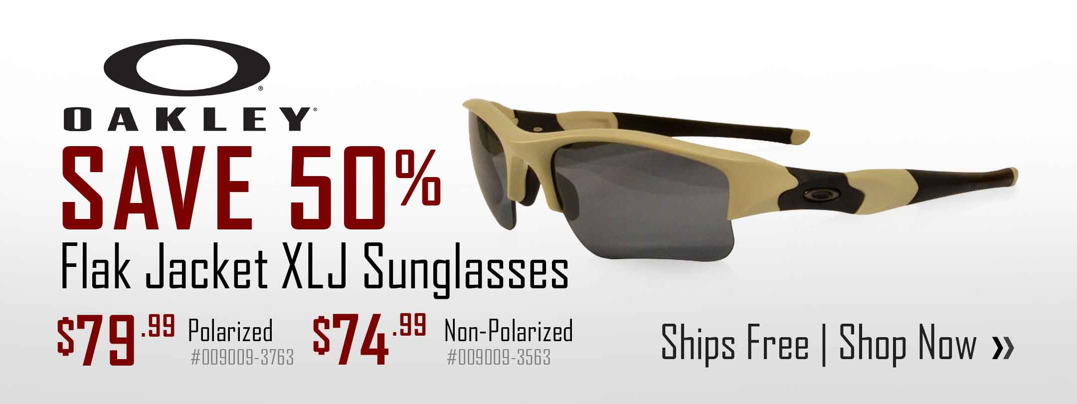MidwayUSA Exclusive - Save on Oakley Flak Jacket Polarized & Non-Polarized Sunglasses