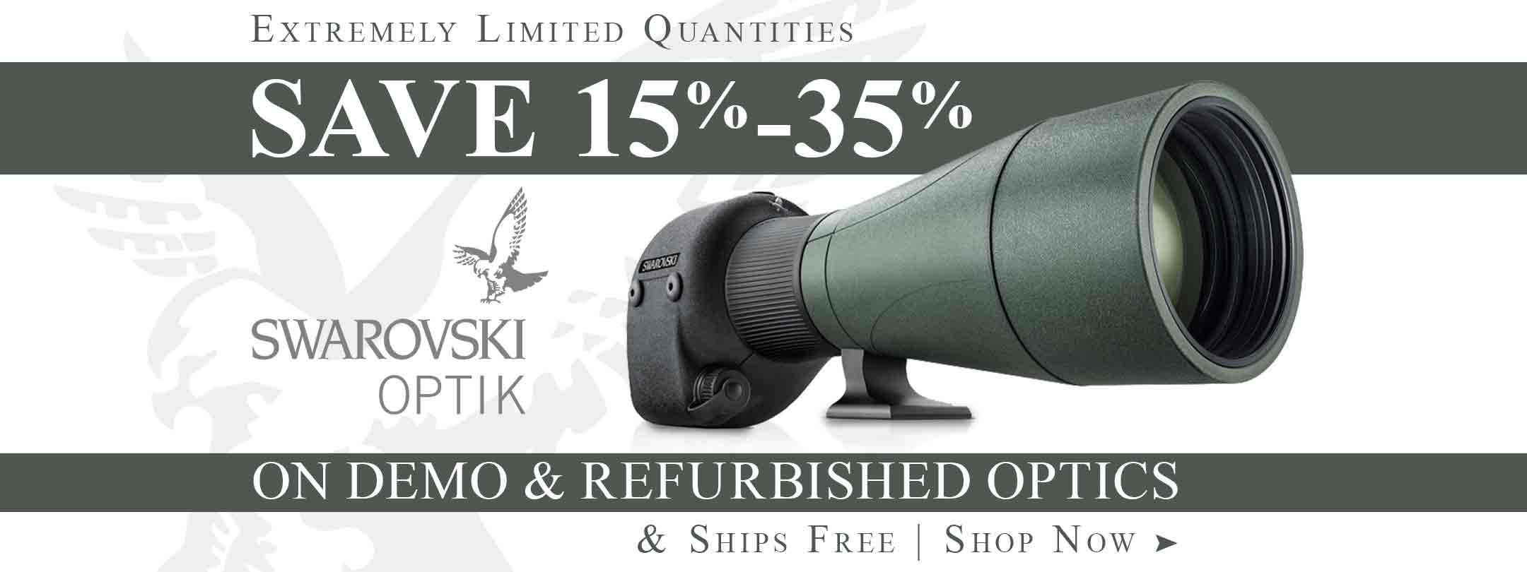 Save on Swarovski Demo & Refurbished Rifle Scopes, Rangefinders & More!