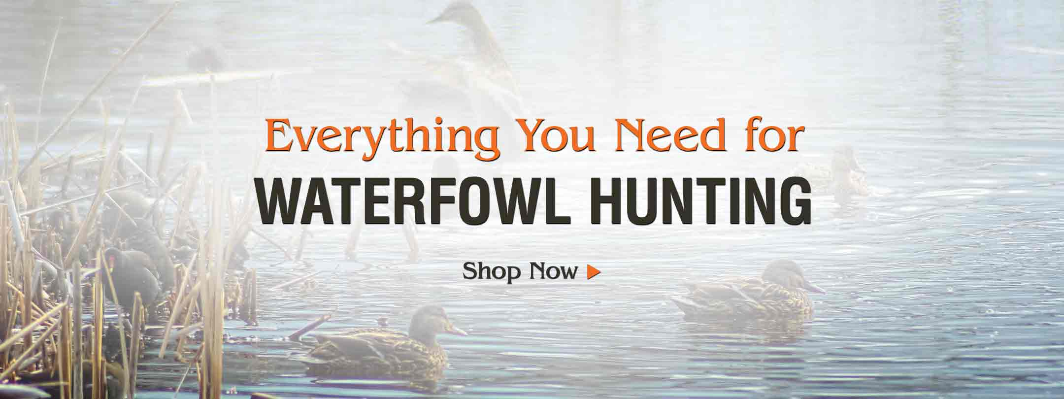 Save on Waterfowl Hunting Clothing, Boat Motors, Gun Cases & More!