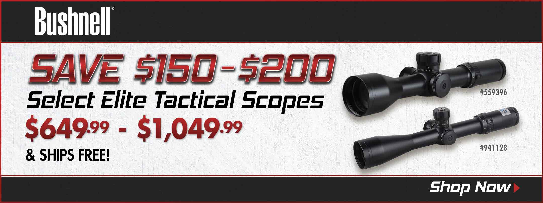 Save on Select Bushnell Elite Tactical Scopes