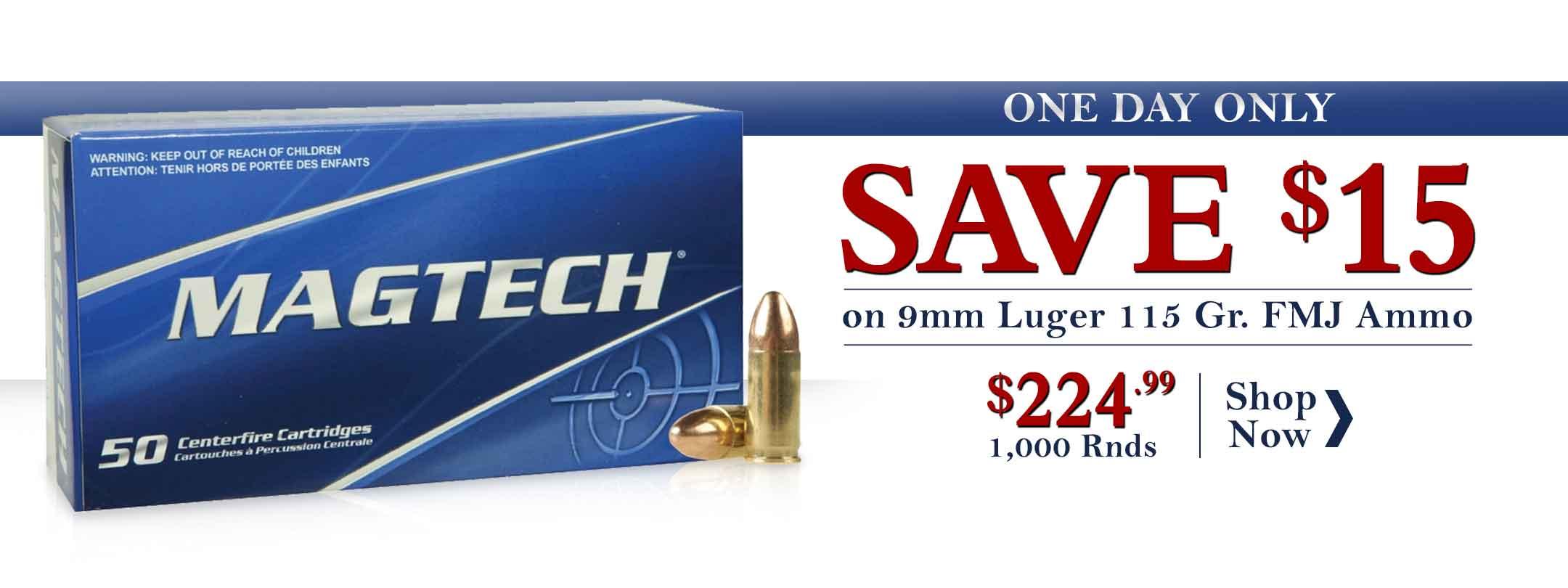 Magtech 9mm Luger 115 Gr FMJ Ammunition