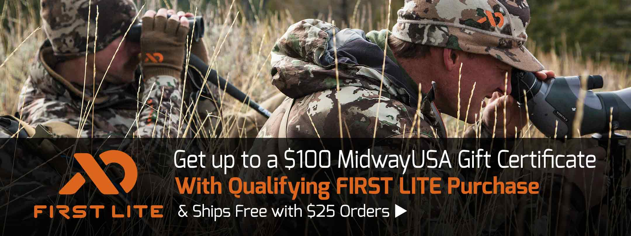 Up to $100 MidwayUSA Gift Certificate with Qualifying First Lite Purchase