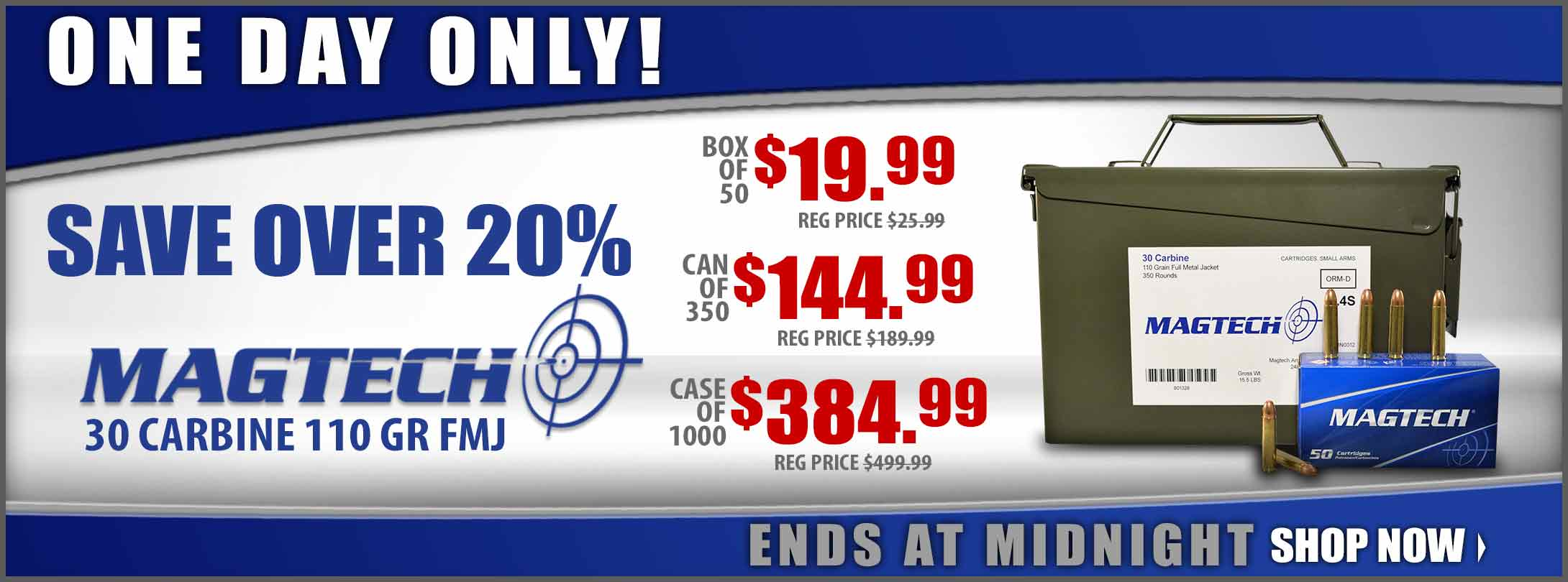 Save on Magtech 30 Carbine Ammo!