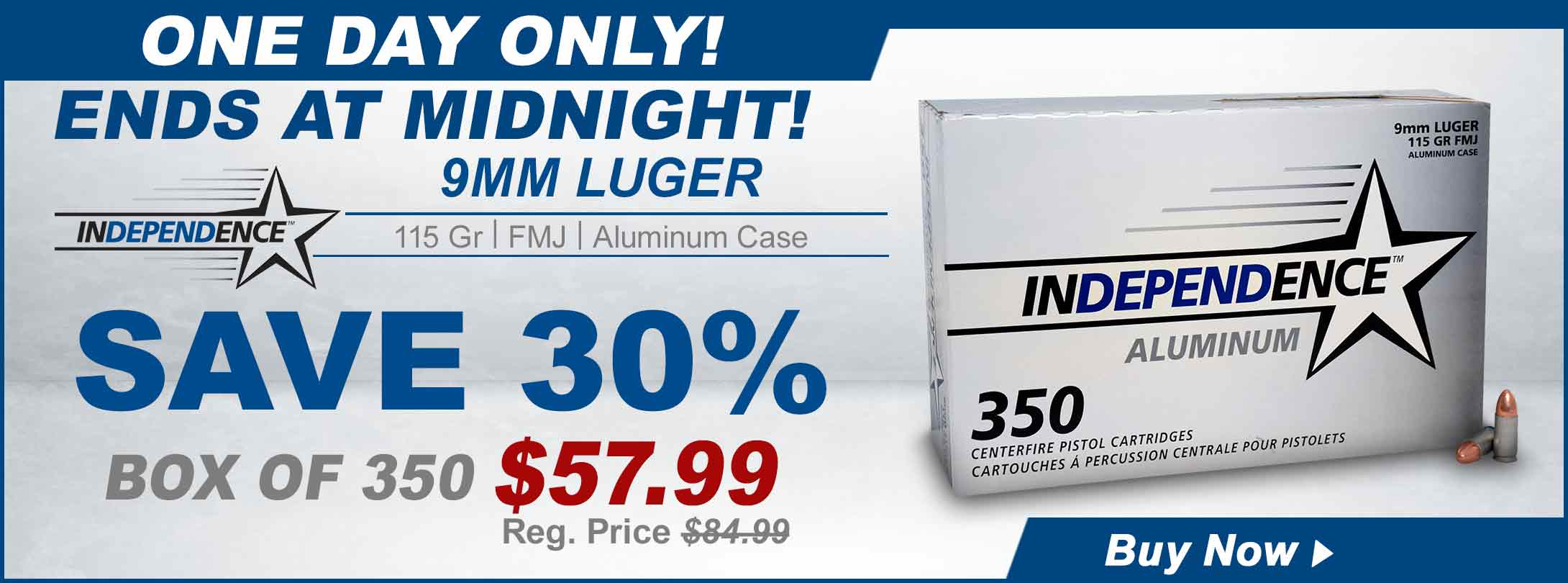 30% Off Independence 9mm Ammo