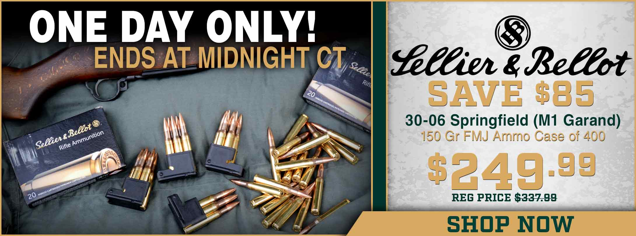 Save Over $85 on Sellier & Bellot 30-06!
