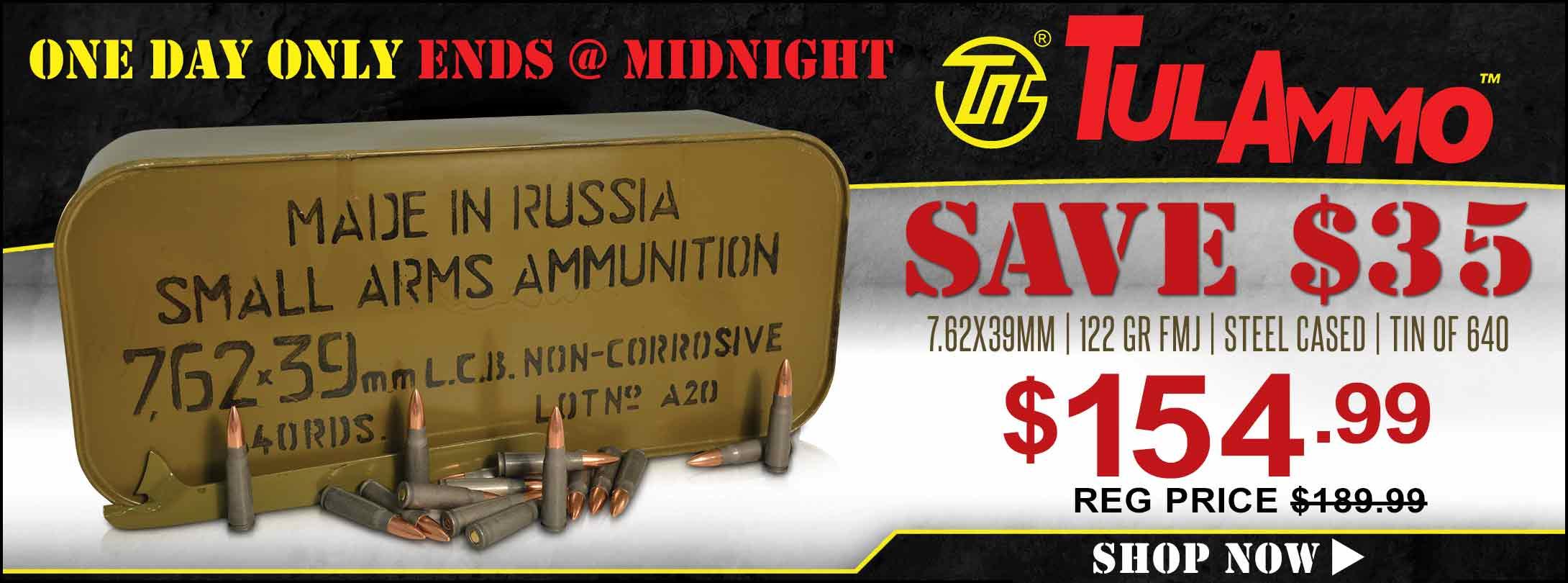 Save On TulAmmo 7.62x39mm!