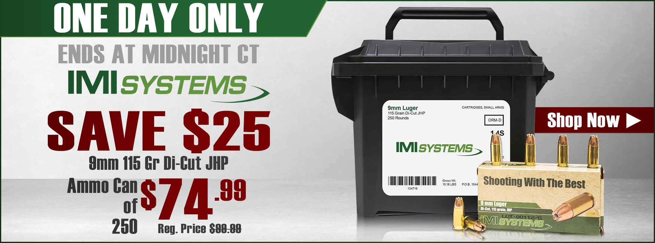 Save on IMI 9mm!