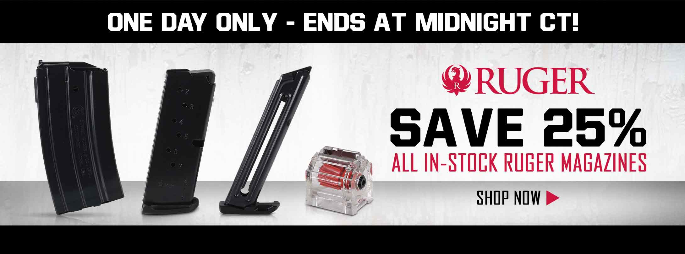 Save 25% on All In-Stock Ruger Magazines