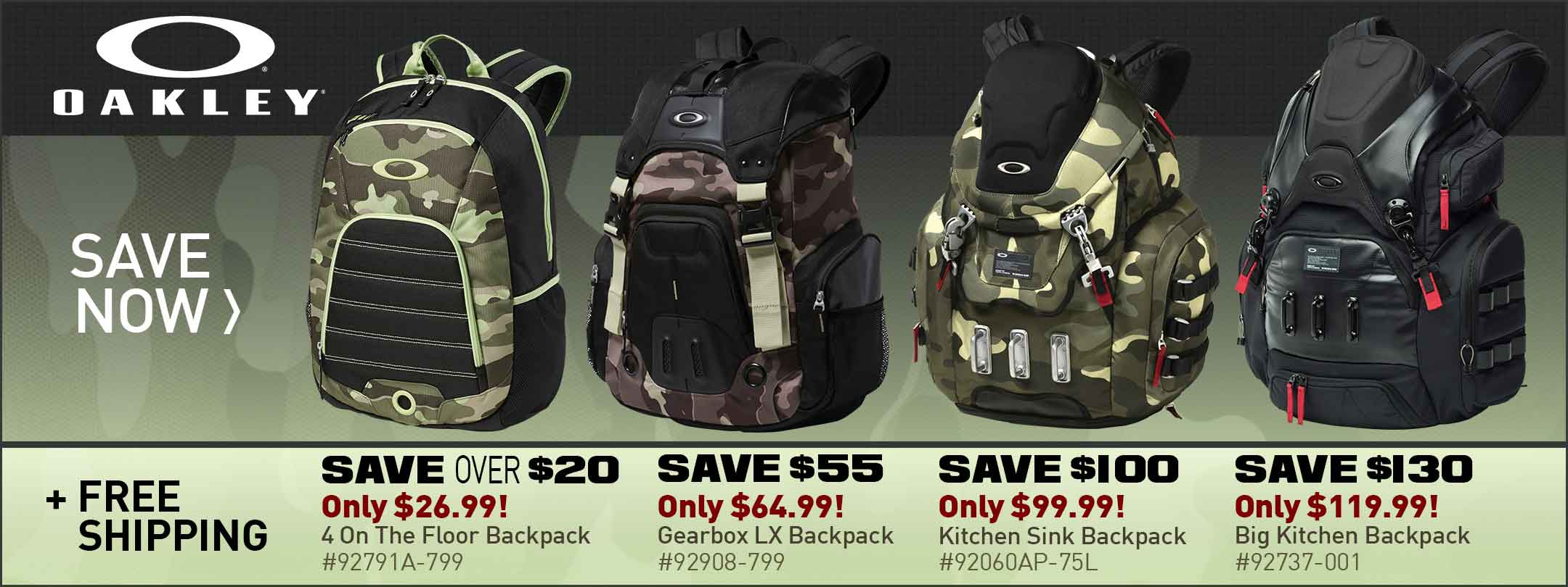 Save on Oakley Backpacks
