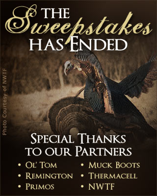Turkey Hunting Gear Sweepstakes Has Ended.