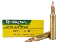 Product detail of Remington Express Ammunition 220 Swift 50 Grain Pointed Soft Point Box of 20