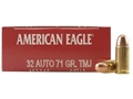 Product detail of Federal American Eagle Ammunition 32 ACP 71 Grain Total Metal Jacket Box of 50