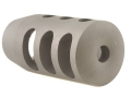 "Product detail of Holland's Quick Discharge Muzzle Brake 3/4""-28 Thread .775""-.850"" Barrel Tapered Stainless Steel"