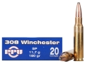 Product detail of Prvi Partizan Ammunition 308 Winchester 180 Grain Soft Point Box of 20