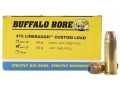 Product detail of Buffalo Bore Ammunition 475 Linebaugh 350 Grain Jacketed Hollow Point Box of 50