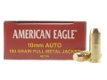 Product detail of Federal American Eagle Ammunition 10mm Auto 180 Grain Full Metal Jacket