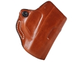 Product detail of DeSantis Mini Scabbard Outside the Waistband Holster Right Hand Taurus 709 Slim Leather Tan