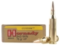 Product detail of Hornady Custom Ammunition 243 Winchester 75 Grain Hollow Point Box of 20