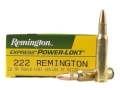 Product detail of Remington Express Ammunition 222 Remington 50 Grain Hollow Point Power-Lokt Box of 20