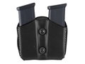 Product detail of DeSantis Double Magazine Pouch Glock 17, 19, 22, 23 Leather Black