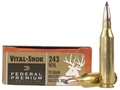 Product detail of Federal Premium Vital-Shok Ammunition 243 Winchester 95 Grain Nosler Ballistic Tip Box of 20