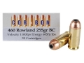 Product detail of Cor-Bon Hunter Ammunition 460 Rowland 255 Grain Bonded Core Jacketed Hollow Point Box of 20