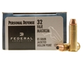 Product detail of Federal Premium Personal Defense Ammunition 32 H&R Magnum 85 Grain Jacketed Hollow Point Box of 20