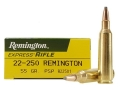 Product detail of Remington Express Ammunition 22-250 Remington 55 Grain Pointed Soft Point Box of 20