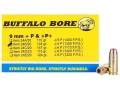 Product detail of Buffalo Bore Ammunition 9mm Luger +P+ 124 Grain Jacketed Hollow Point Box of 20