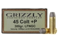 Product detail of Grizzly Ammunition 45 Colt (Long Colt) +P 300 Grain Cast Performance Lead Long Flat Nose Gas Check Box of 20