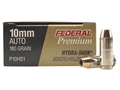 Product detail of Federal Premium Personal Defense Ammunition 10mm Auto 180 Grain Hydra-Shok Jacketed Hollow Point Box of 20