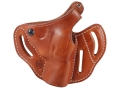 "Product detail of El Paso Saddlery Dual Duty 3 Slot Outside the Waistband Holster Right Hand Smith & Wesson J-Frame 2"" Leather Russet Brown"