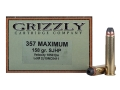 Product detail of Grizzly Ammunition 357 Maximum 158 Grain Jacketed Hollow Point Box of 20
