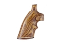 Product detail of Hogue Fancy Hardwood Grips with Accent Stripe and Top Finger Groove Colt Trooper Mark III