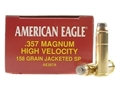 Product detail of Federal American Eagle Ammunition 357 Magnum 158 Grain Jacketed Soft Point Box of 50